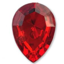 13mm x 18mm RED Teardrop Shape Acrylic Embellishment Gems